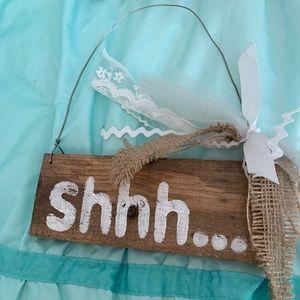 Shhh... wood sign / door hanger for nursery